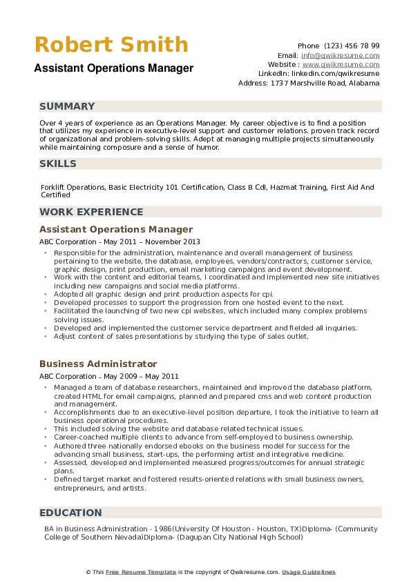 operations manager resume samples qwikresume summary for pdf tools thank you letter Resume Operations Manager Summary For Resume