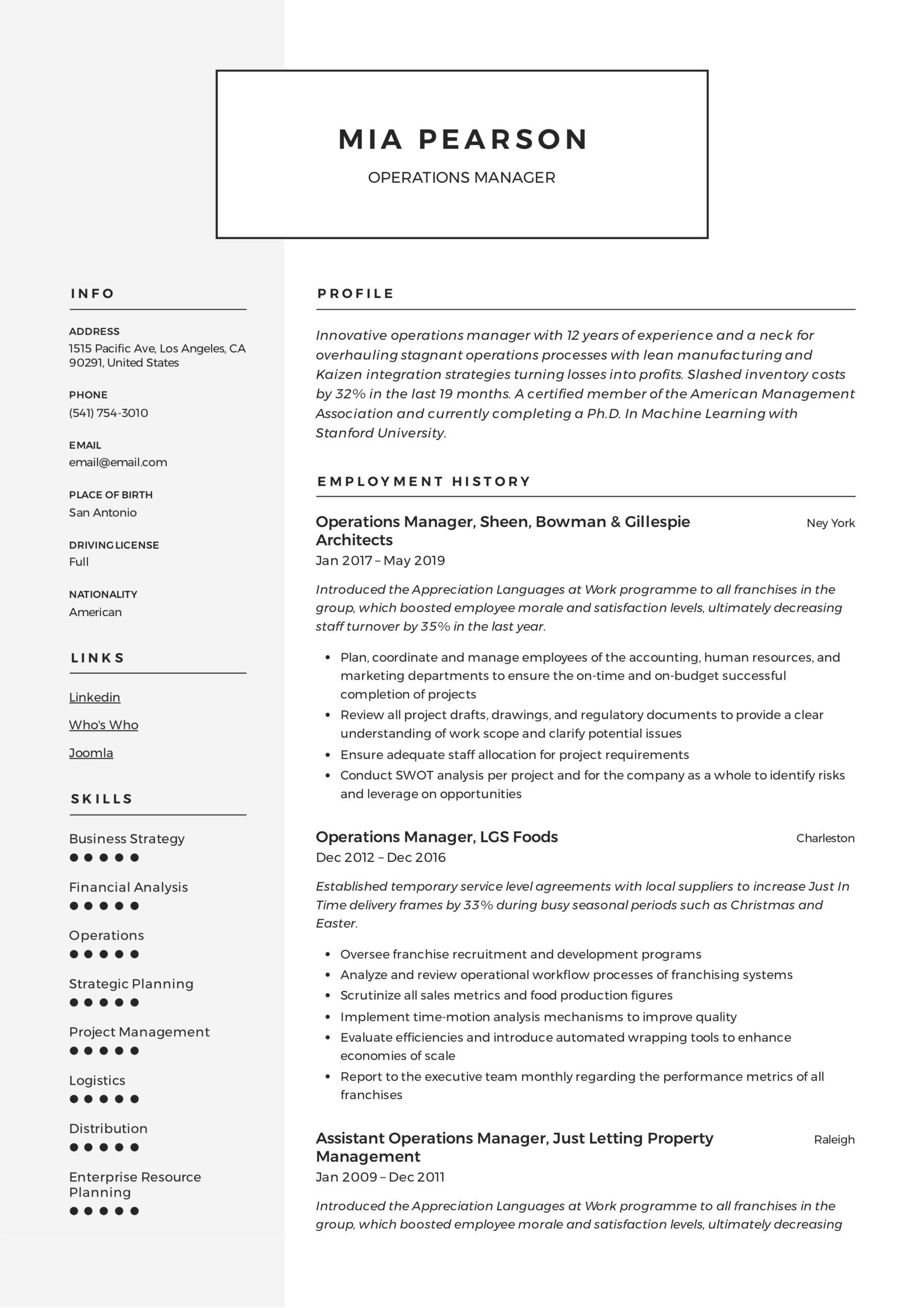 operations manager resume writing guide examples pdf summary for example latest templates Resume Operations Manager Summary For Resume