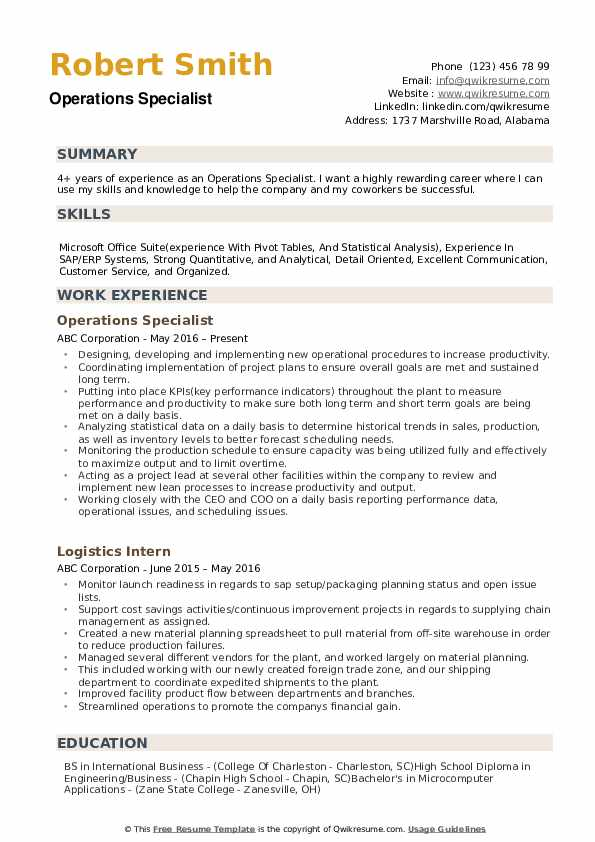 operations specialist resume samples qwikresume business pdf bloomberg market concepts Resume Business Operations Specialist Resume
