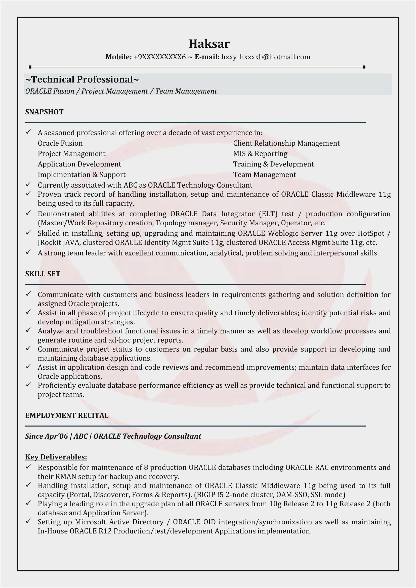 oracle resume format for experienced sample senior software developer building operator Resume Senior Oracle Dba Resume Sample