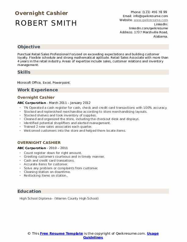 overnight cashier resume samples qwikresume high school pdf electrician apprentice skills Resume High School Cashier Resume