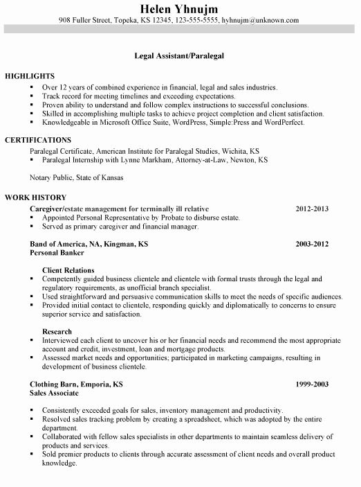 paralegal job description resume unique bination sample legal assistant in examples Resume Paralegal Resume Examples 2020