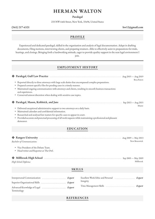 paralegal resume examples writing tips free guide io general contractor film industry Resume Paralegal Resume Examples 2020
