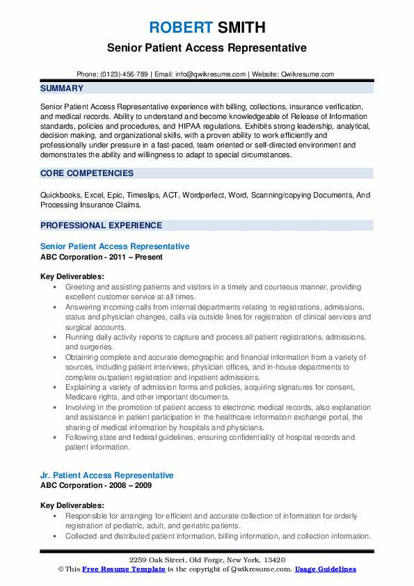 patient access representative resume samples qwikresume pdf medical lab scientist front Resume Patient Access Representative Resume