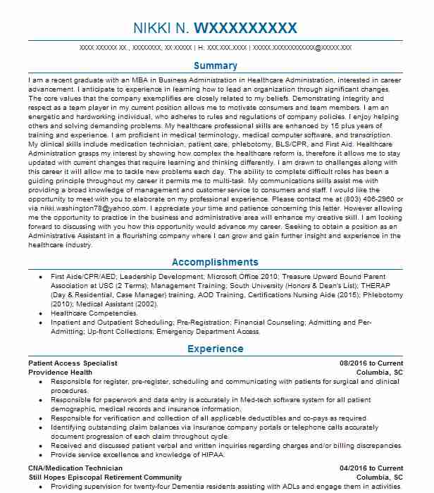 patient access specialist resume example livecareer representative federal writing tips Resume Patient Access Representative Resume