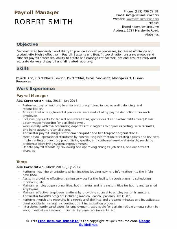 payroll manager resume samples qwikresume sample pdf linkedin and writing services Resume Payroll Manager Resume Sample