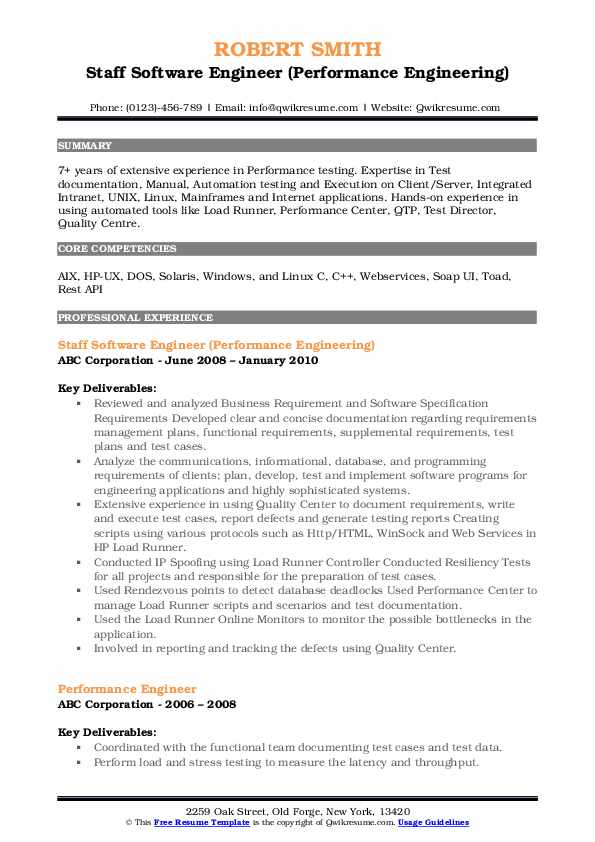 performance engineer resume samples qwikresume loadrunner experience pdf for commercial Resume Loadrunner Experience Resume