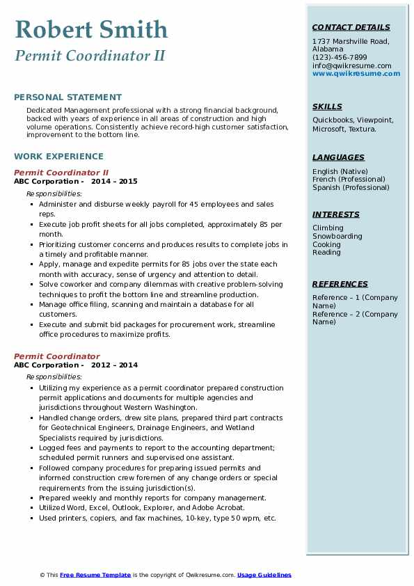 permit coordinator resume samples qwikresume pdf email writing for sending riverdale Resume Permit Coordinator Resume