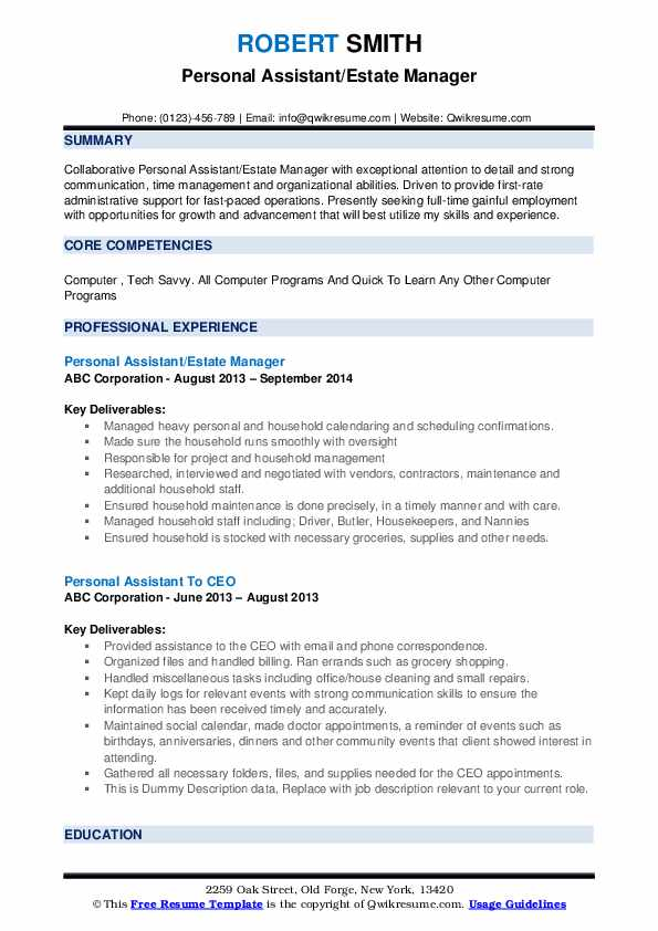 personal assistant resume samples qwikresume responsibilities pdf healthcare objective Resume Personal Assistant Responsibilities Resume