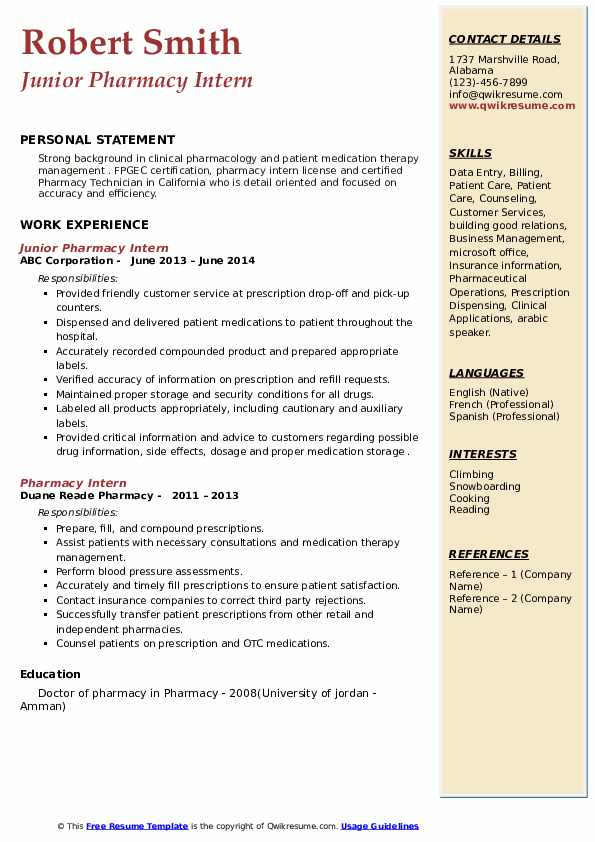 pharmacy intern resume samples qwikresume technician internship pdf format strength Resume Pharmacy Technician Internship Resume