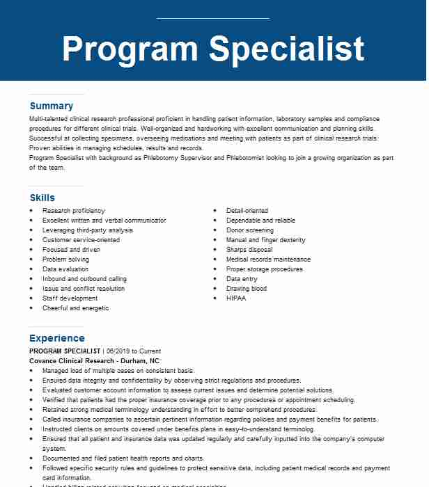 phlebotomy supervisor resume example labcorp elsinore entry level legal for factory job Resume Phlebotomy Supervisor Resume