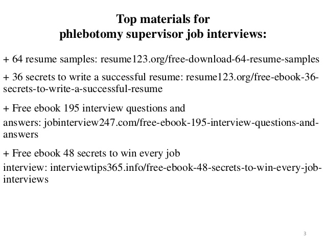 phlebotomy supervisor resume sample pdf ebook free cls retail objective statement view Resume Phlebotomy Supervisor Resume