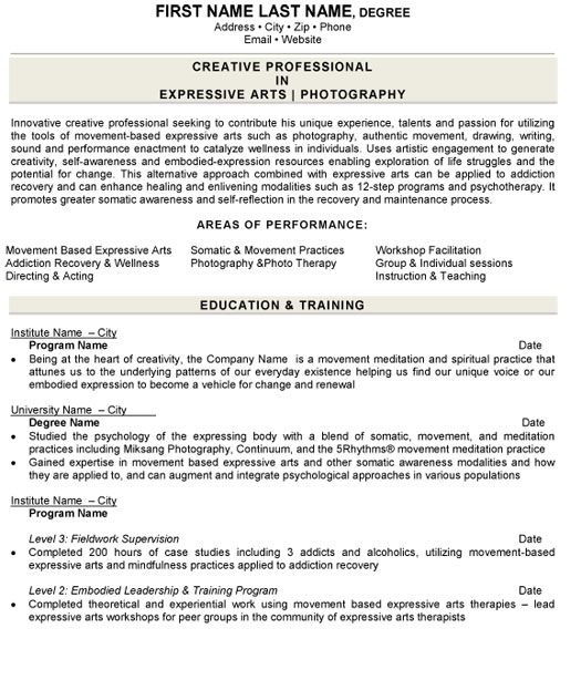photographer resume sample template director of photography art expressive arts software Resume Director Of Photography Resume