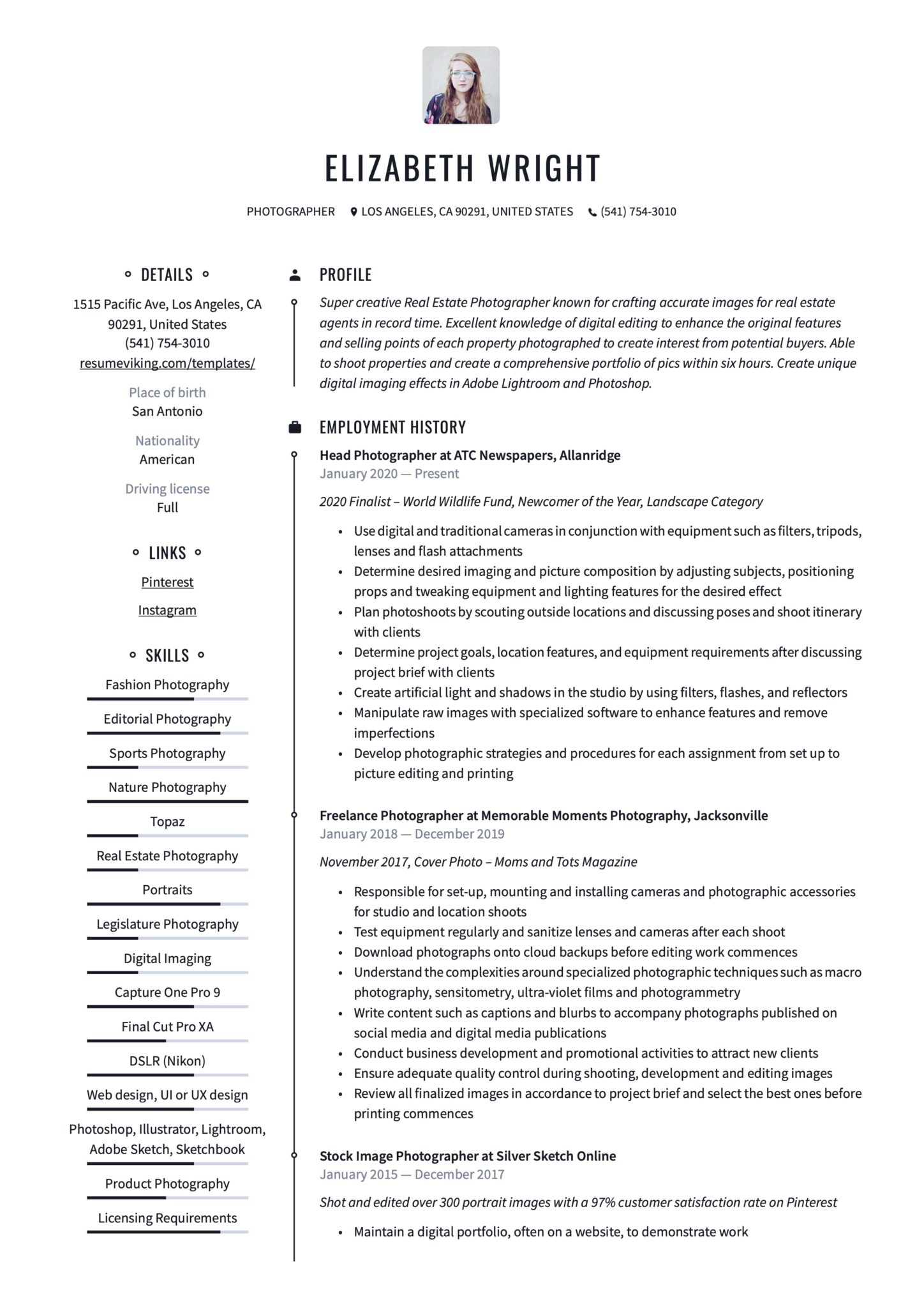 photographer resume writing guide templates duties scaled dual citizenship on comp sci Resume Photographer Duties Resume