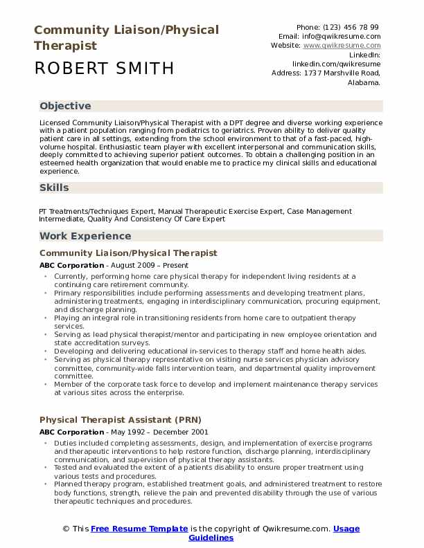 physical therapist resume samples qwikresume therapy examples pdf format best salary Resume Physical Therapy Resume Examples