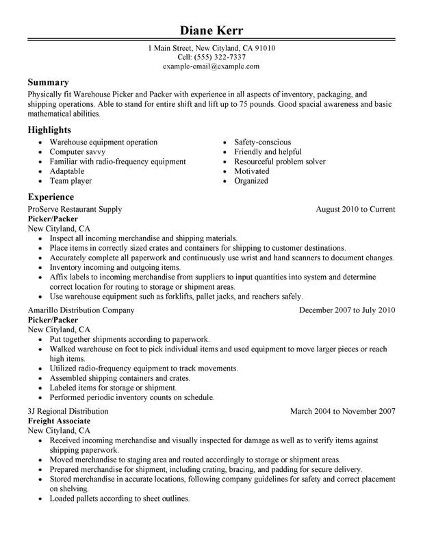 picker and packer resume examples created by pros myperfectresume pharmaceutical Resume Pharmaceutical Packaging Resume Sample