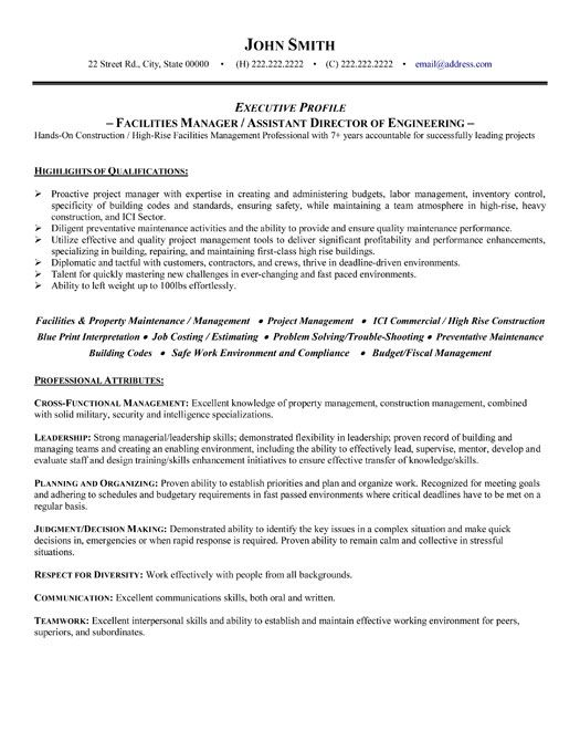 pin on dyi facility manager job description resume customer service order processing best Resume Facility Manager Job Description Resume