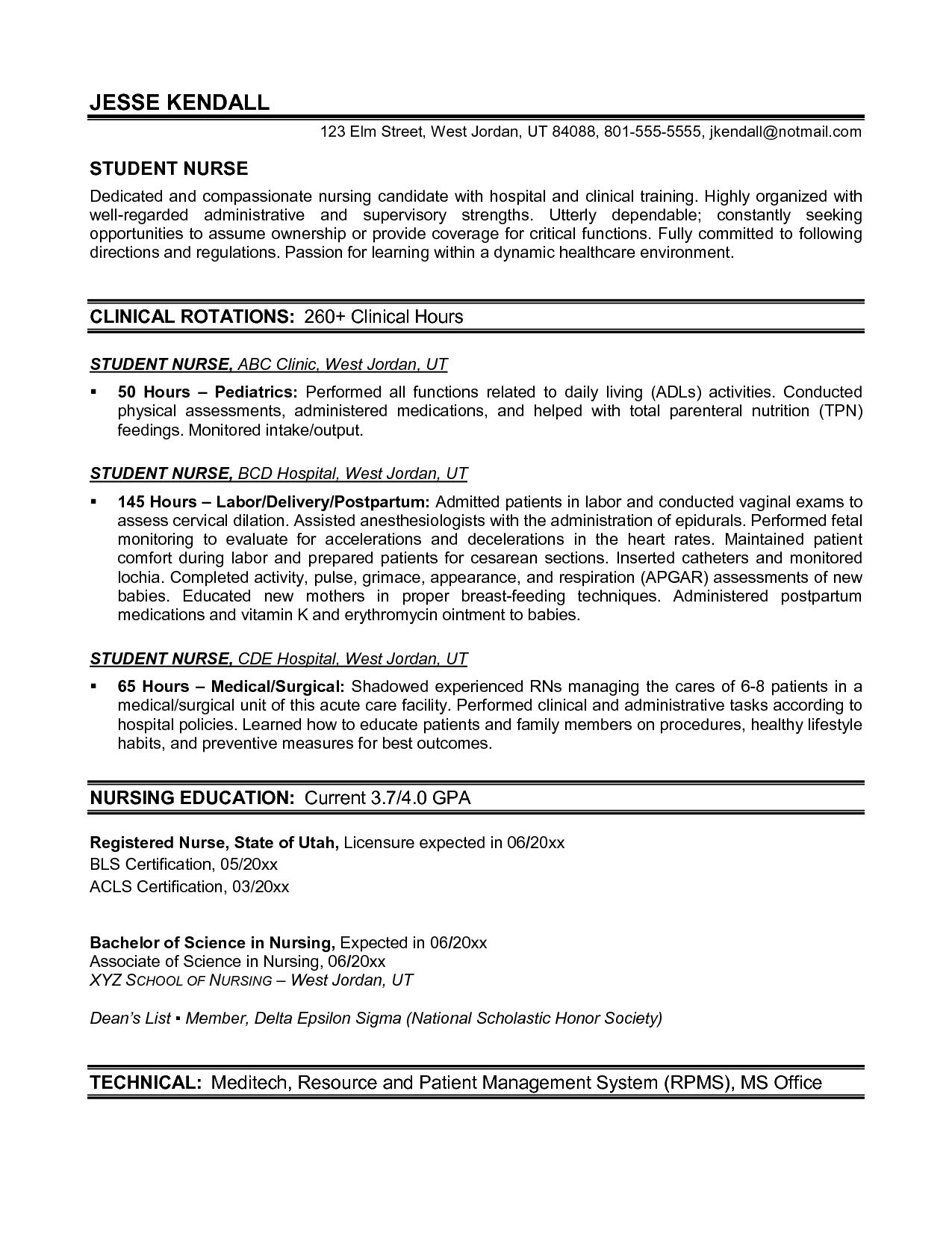 pin on nursing new grad rn resume objective templates for experienced candidates commis Resume New Grad Rn Resume Objective