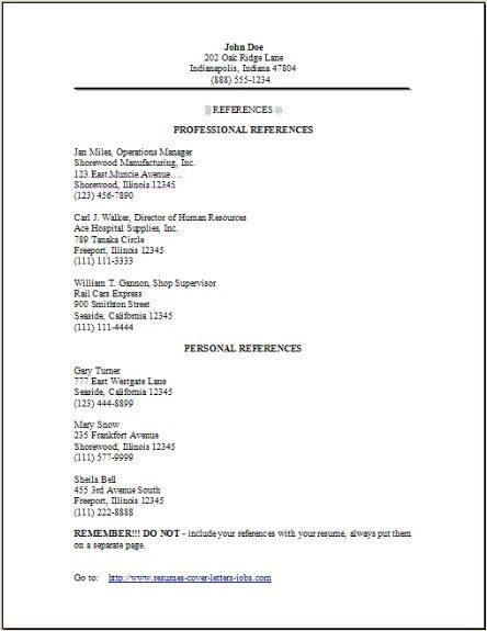 pin on reference letter resume example packer owner operator sample email for job Resume Resume Reference Page Example