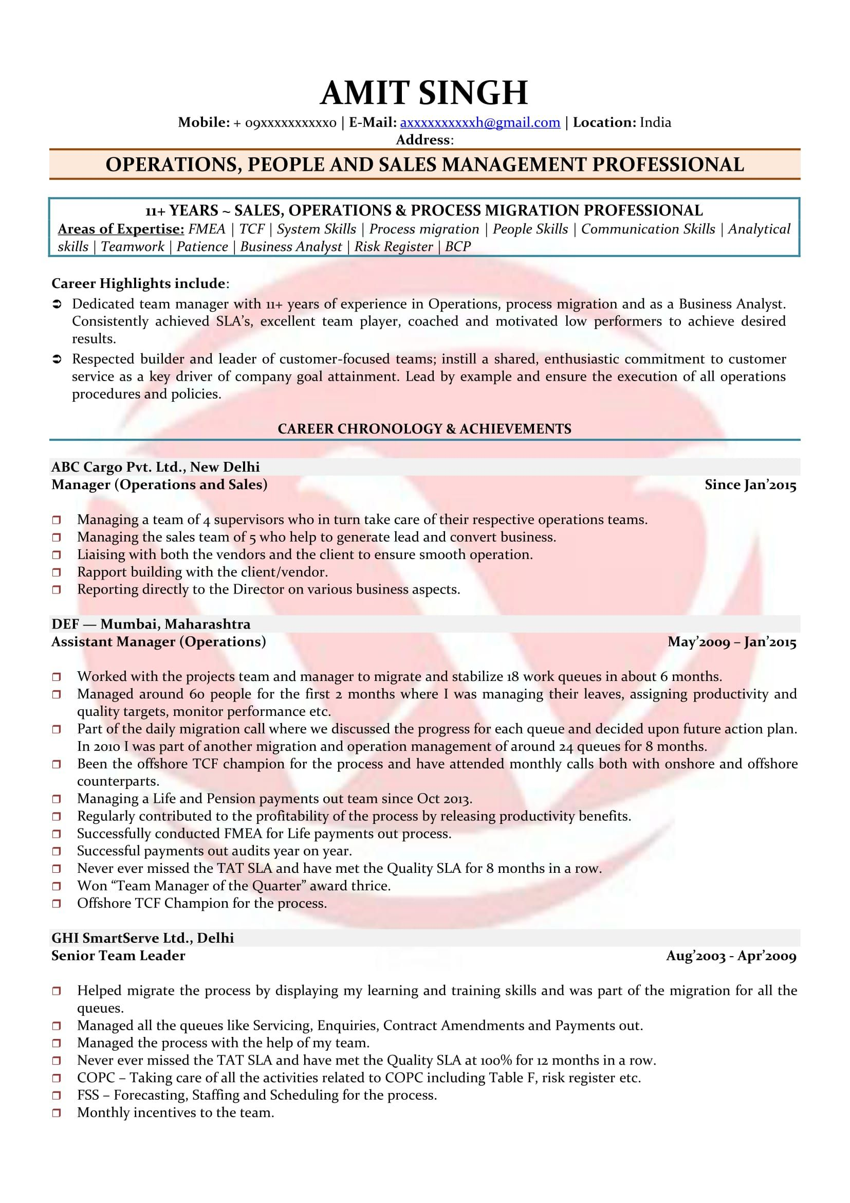 pin on resume format for assistant manager operations bpo acceptable reasons leaving job Resume Resume Format For Assistant Manager Operations Bpo