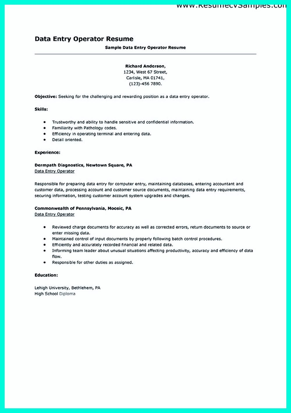 pin on resume sample template and format university associate project manager ile Resume Lehigh University Resume Template