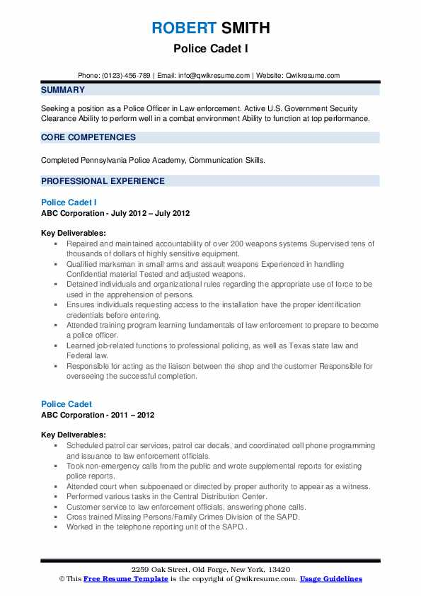 police cadet resume samples qwikresume law enforcement examples pdf for executive Resume Law Enforcement Resume Examples