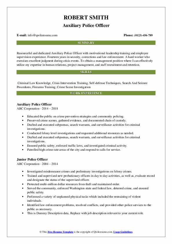 police officer resume samples qwikresume law enforcement pdf example of construction Resume Law Enforcement Police Officer Resume