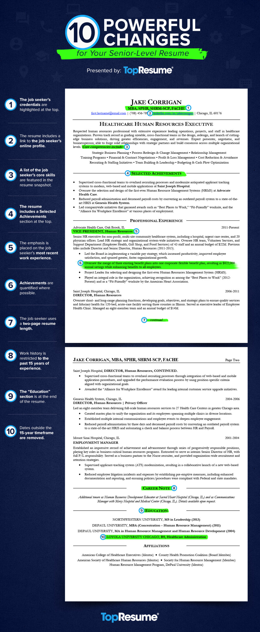 powerful changes for your executive level resume topresume career achievements samples ig Resume Career Achievements Resume Samples