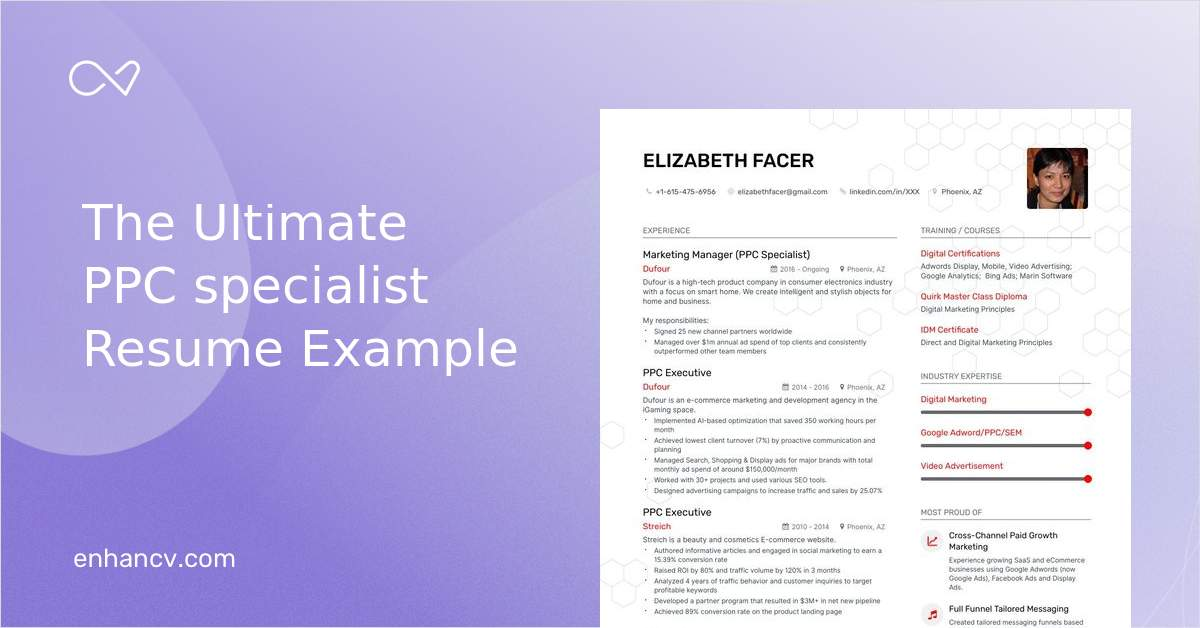 ppc specialist resume examples do and don ts for enhancv google adwords sample rf survey Resume Google Adwords Sample Resume