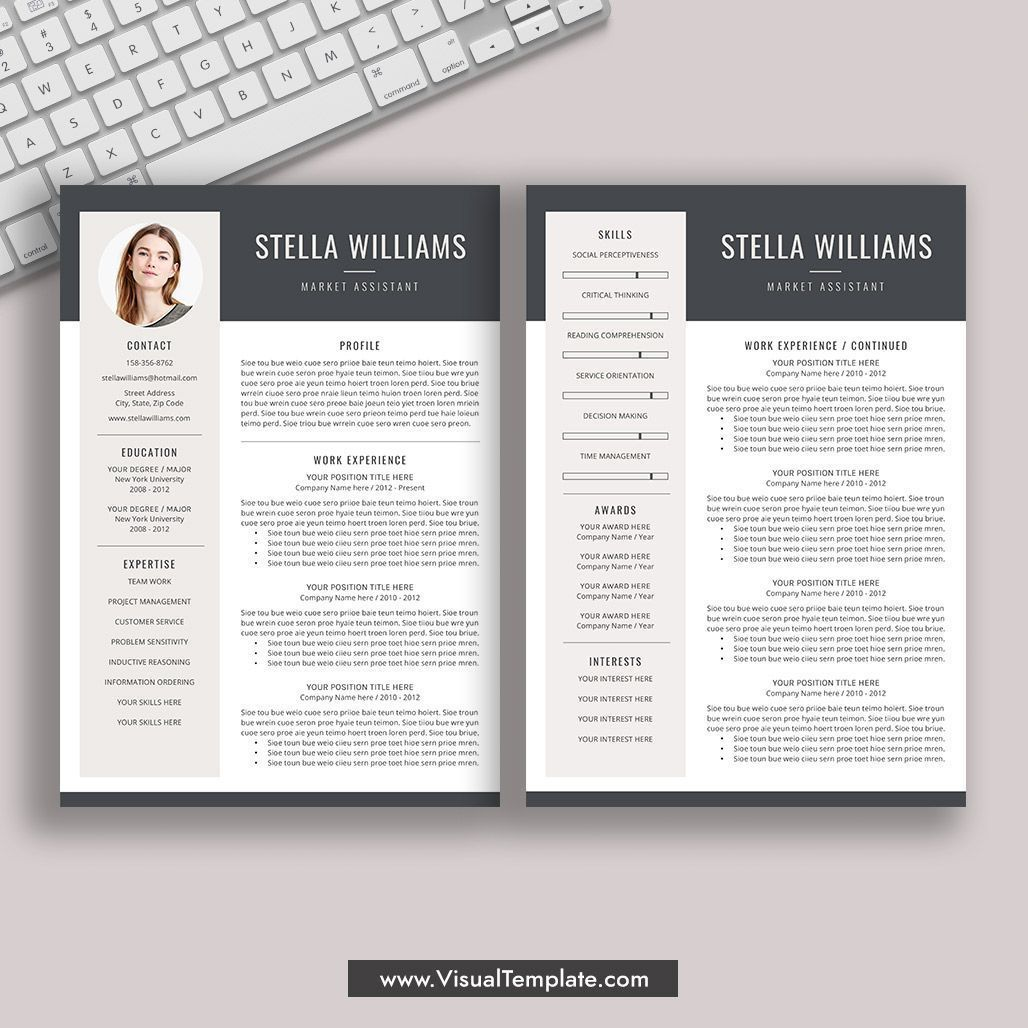 pre formatted resume template with icons fonts and editing guide unlimited digital Resume Resume Templates For Word 2020