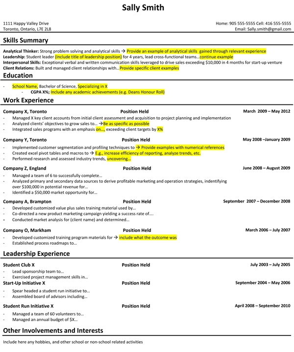 prepared my student resume for career in consulting talentegg incubator consultant Resume Resume Consultant Toronto