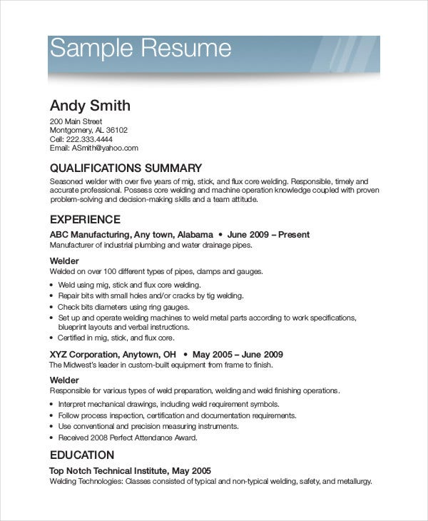 printable resume template free word pdf documents premium templates layout examples Resume Free Resume Layout Examples