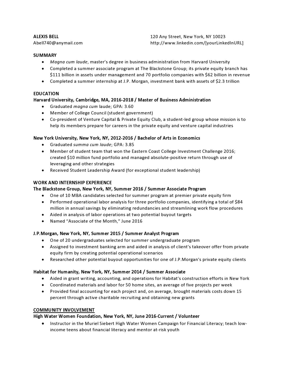 private equity entry level resume samples templates vault estate creschprequity58 when Resume Real Estate Private Equity Resume