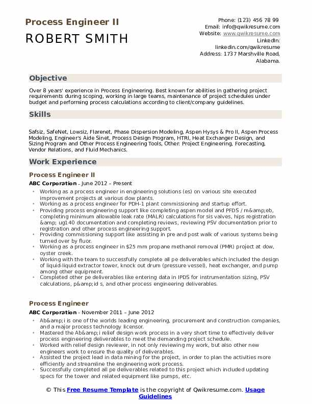 process engineer resume samples qwikresume eit certification on pdf for operations Resume Eit Certification On Resume