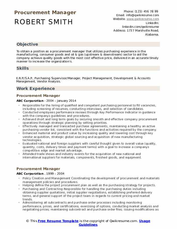 procurement manager resume samples qwikresume format for pdf sample ex con sigint analyst Resume Resume Format For Procurement Manager