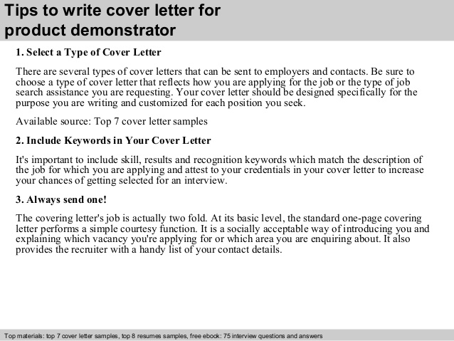 product demonstrator cover letter resume iis administrator sample interests that look Resume Product Demonstrator Resume