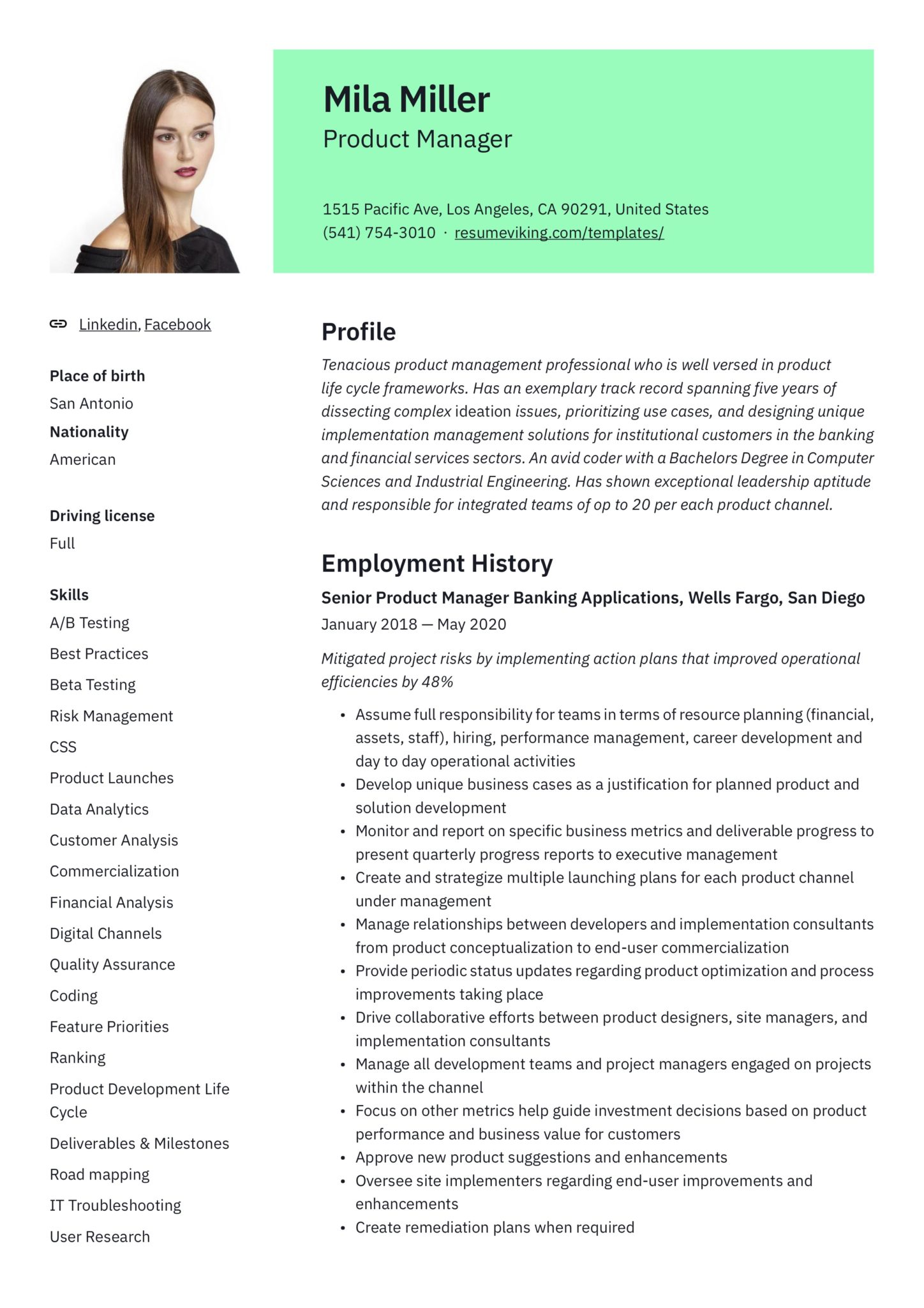 product manager resume guide samples pdf associate scaled should you include references Resume Associate Product Manager Resume