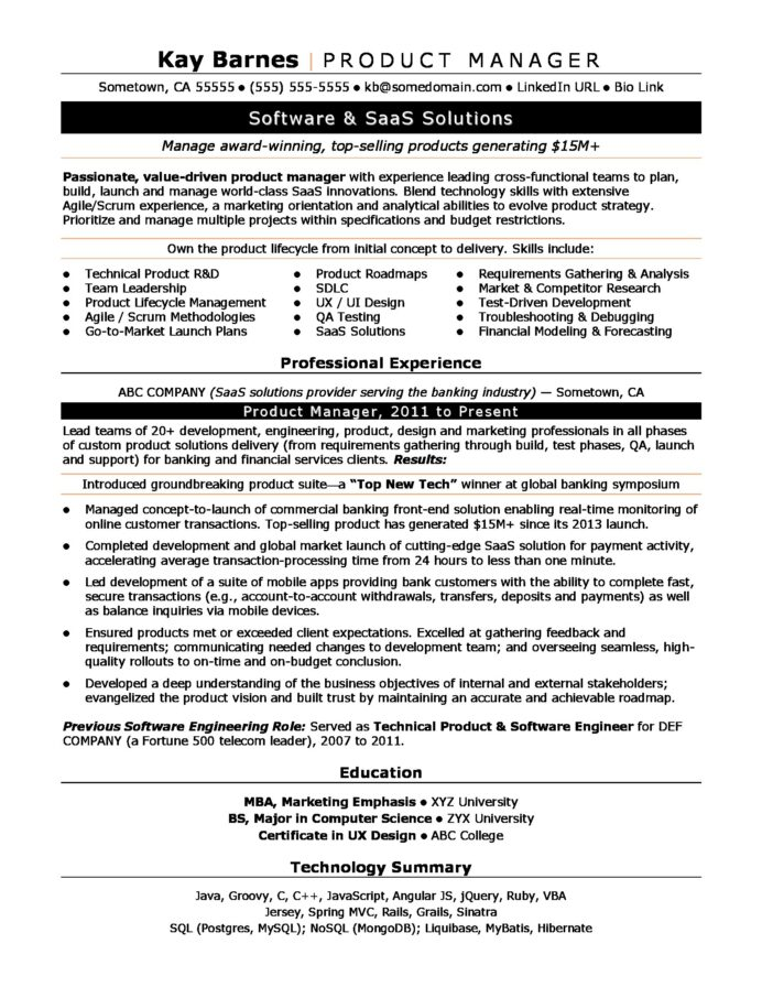 product manager resume sample monster digital marketing project productmanager man Resume Digital Marketing Project Manager Resume