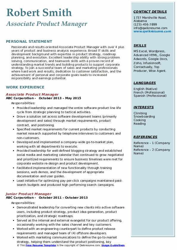 product manager resume samples qwikresume associate pdf office coordinator lsu template Resume Associate Product Manager Resume