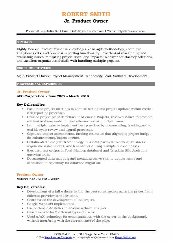 product owner resume samples qwikresume senior pdf bootstrap template ccna certified Resume Senior Product Owner Resume