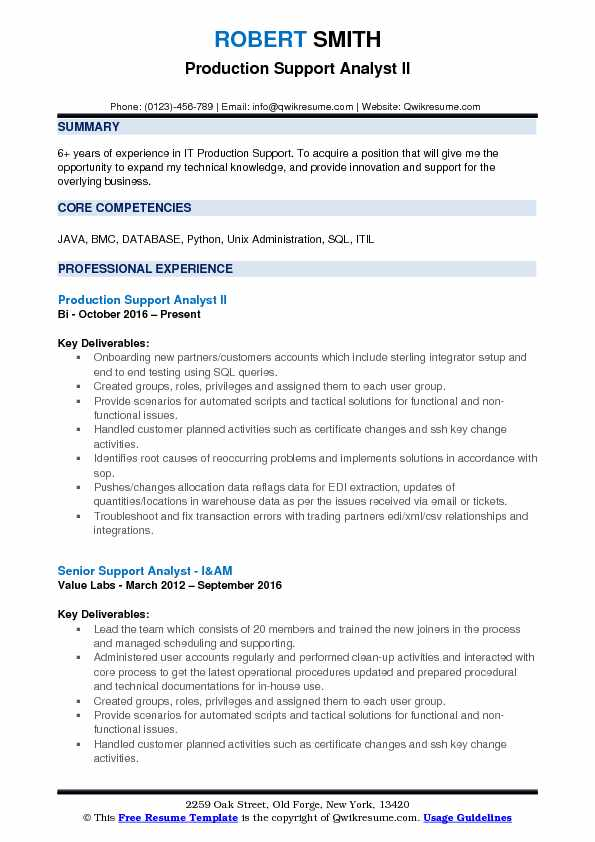 production support analyst resume samples qwikresume sample pdf examples career Resume Production Support Analyst Resume Sample