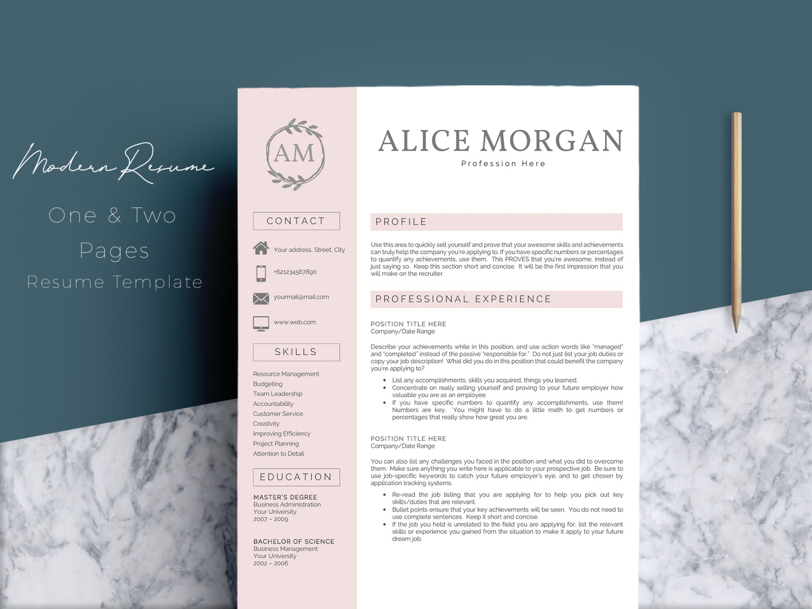 professional creative resume template alice by templates on dribbble and experienced Resume Professional And Creative Resume Templates