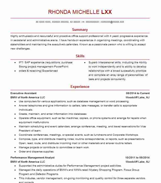 professional executive assistant resume examples administrative livecareer microsoft Resume Administrative Assistant Resume 2020