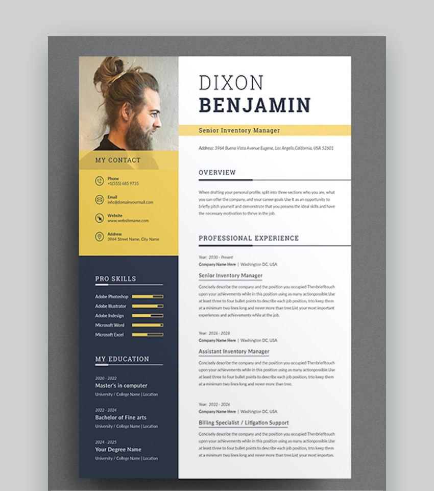 professional ms word resume templates simple cv design formats sample format modern Resume Sample Resume 2020 Format