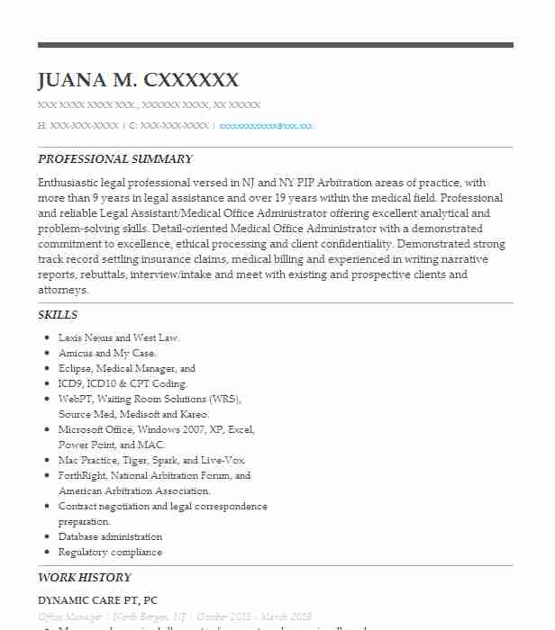 professional office manager resume examples administrative livecareer summary format for Resume Office Manager Resume Summary Examples