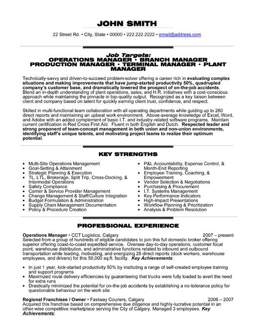 professional resume template for an operations manager want it now management examples Resume Operations Manager Resume Sample