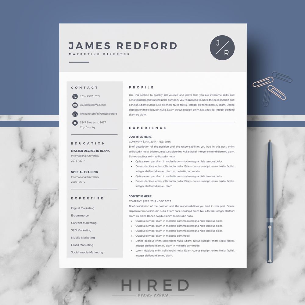 professional resume template for mac and word on behance military recruiter experience Resume Resume Template Word Mac