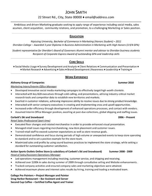 professional resume template for marketing intern want it now job samples examples Resume Marketing Internship Resume Objective