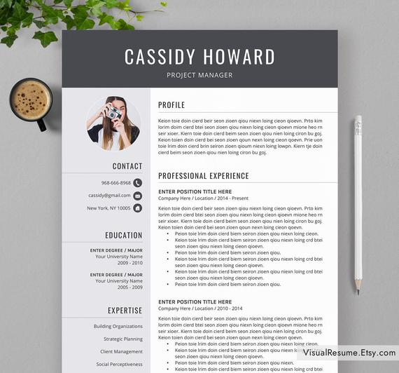 professional resume template for ms word creative cv etsy templates il 570xn l0a9 sap isu Resume Resume Templates For Word 2020
