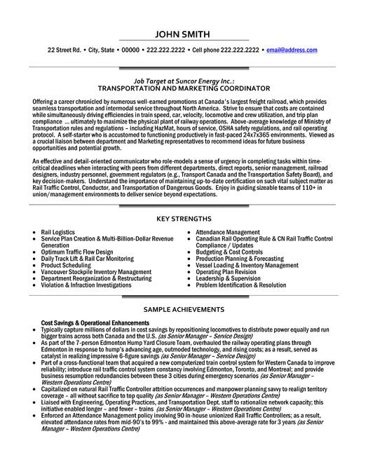 professional resume template for transportation and marketing coordinator want it now Resume Director Of Transportation Resume